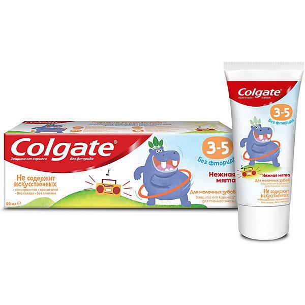 Colgate Детская зубная паста Colgate нежная мята без фтора, 3-5 лет, 60 мл зубная паста colgate нежная мята 3 5 лет 60 мл