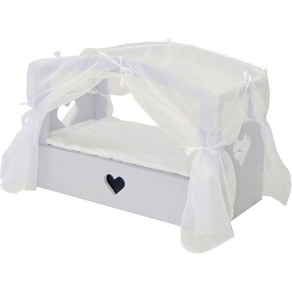 Купить Кроватка с бельевым ящиком Paremo Любимая кукла , Россия, серый, Женский
