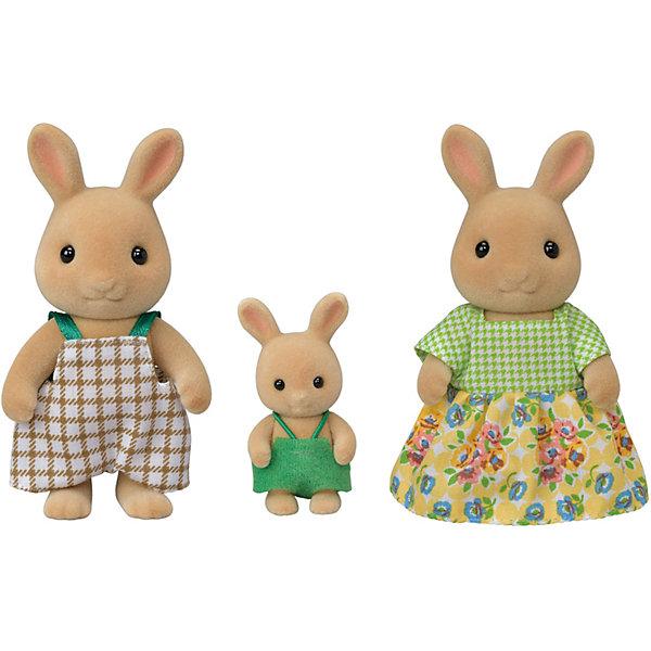 Эпоха Чудес Игровой набор Sylvanian Families Семья Солнечных кроликов, 3 фигурки набор семья кроликов sylvanian families