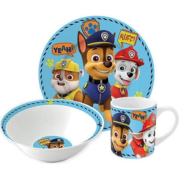Купить Набор керамической посуды Stor Щенячий патруль. Символы, 3 предмета, atlantikblau, Мужской