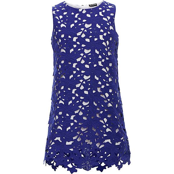 Нарядное платье Gulliver синего цвета