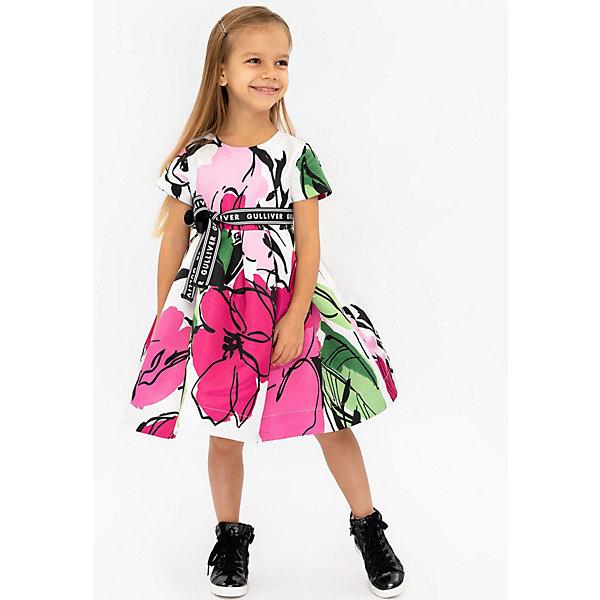 Нарядное платье Gulliver цвет розовый/розовый