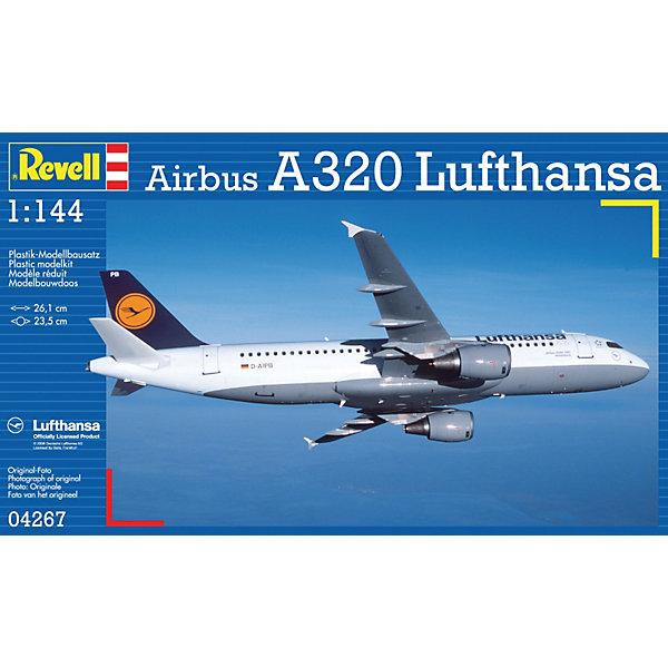 Аэробус Airbus A320 Lufthansa; 1:144Самолеты и вертолеты<br>Характеристики товара:<br><br>• ISBN:4009803042671;<br>• возраст: от 10 лет;<br>• масштаб: 1:144;<br>• количество деталей: 60 шт;<br>• материал: пластик;<br>• клей и краски в комплект не входят;<br>• длина модели: 26,1 см;<br>• размах крыльев: 23,5 см;<br>• бренд, страна бренда: Revell (Ревел),Германия;<br>• страна-изготовитель: Китай.<br><br>Сборная модель для склеивания «Самолет Airbus A320 Lufthansa» поможет вам и вашему ребенку придумать увлекательное занятие на долгое время и заполнит досуг веселой игрой. <br><br>Набор включает в себя 60 элементов из высококачественного пластика, схема для окрашивания модели и инструкция, с помощью которых можно собрать достоверную уменьшенную копию настоящего аэробуса.<br> <br>Процесс сборки развивает интеллектуальные и инструментальные способности, воображение и конструктивное мышление, а также прививает практические навыки работы со схемами и чертежами.<br><br>Обращаем ваше внимание на тот факт, что для сборки этой модели клей и краски в комплект не входят. <br><br>Сборную модель для склеивания «Самолет Airbus A320 Lufthansa», 60 дет., Revell (Ревел) можно купить в нашем интернет-магазине.<br>Ширина мм: 354; Глубина мм: 213; Высота мм: 50; Вес г: 244; Возраст от месяцев: 168; Возраст до месяцев: 228; Пол: Мужской; Возраст: Детский; SKU: 1767265;