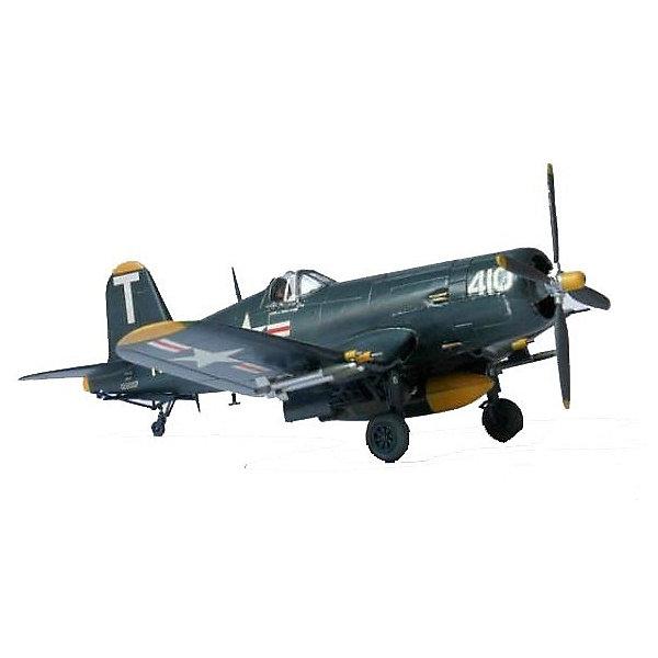 Самолет F4U-5 Corsair, 1:72, (3)Самолеты и вертолеты<br>Характеристики товара:<br><br>• возраст: от 10 лет;<br>• масштаб: 1:72;<br>• количество деталей: 50 шт;<br>• материал: пластик; <br>• клей и краски в комплект не входят;<br>• длина модели: 14,3 см;<br>• бренд, страна бренда: Revell (Ревел), Германия;<br>• страна-изготовитель: Польша.<br><br>Набор для сборки «Самолет F4U-5 Corsair» поможет вам и вашему ребенку придумать увлекательное занятие на долгое время. Набор включает в себя 50 пластиковых элементов и схематичную инструкцию по сборке, из которых можно собрать достоверную уменьшенную копию одноименного самолета. <br><br>«Самолет F4U-5 Corsair» - одноместный истребитель времен Второй мировой войны. Строился и спроектирован фирмой Чанс-Воут. В итоге сконструировали сильно изогнутое складывающееся крыло типа «обратная чайка», основные стойки убирающегося шасси были расположены в месте излома крыла. На самолете данной модели впервые в авиастроении использована точечная электросварка. <br><br>Процесс сборки развивает интеллектуальные и инструментальные способности, воображение и конструктивное мышление, а также прививает практические навыки работы со схемами и чертежами. <br><br>Набор для сборки « Самолет F4U-5 Corsair», 50 дет., Revell (Ревел) можно купить в нашем интернет-магазине.<br>Ширина мм: 243; Глубина мм: 158; Высота мм: 36; Вес г: 115; Возраст от месяцев: 84; Возраст до месяцев: 1188; Пол: Мужской; Возраст: Детский; SKU: 1772835;
