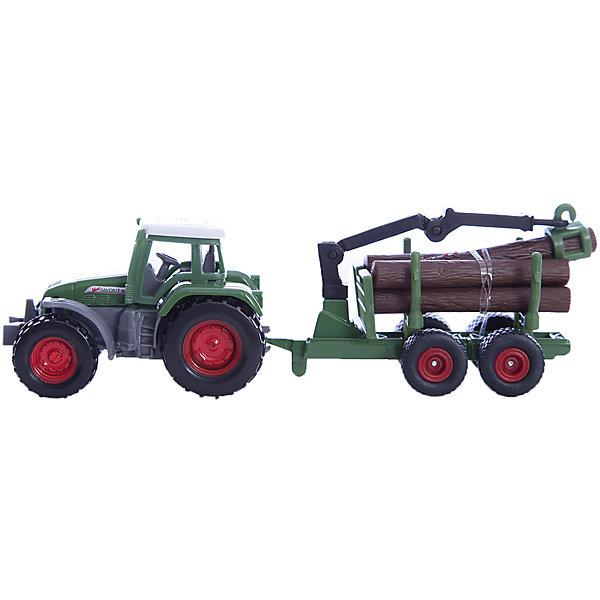 SIKU SIKU 1645 Трактор с прицепом для перевозки бревен siku siku 1651 джип с прицепом для лошадей