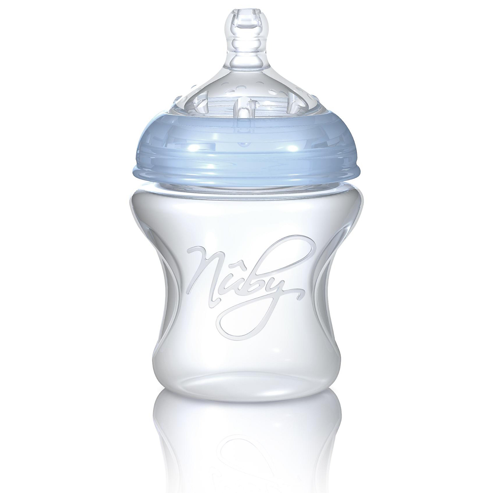 Бутылочка с широким горлышком Natural Touch 150 мл, Nuby