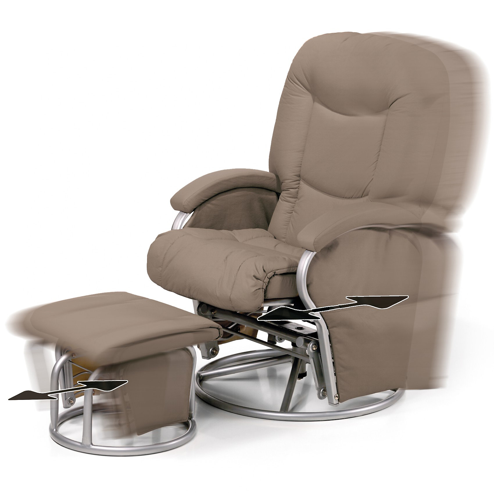 Кресло-качалка для мамы Metal Glider, Hauck, creme (hauck)