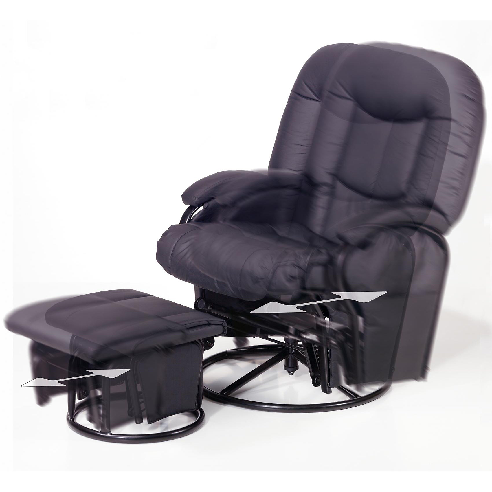 Кресло-качалка для мамы Metal Glider, Hauck, black (hauck)
