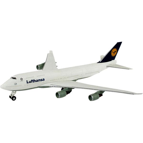 Сборка самолет Boeing 747 LufthansaСамолёты и вертолёты<br>Характеристики товара:<br><br>• возраст: от 6 лет;<br>• масштаб: 1:288;<br>• количество деталей: 42 шт;<br>• материал: пластик;<br>• клей и краски в комплект не входят;<br>• габариты модели: 25,2х23,1 см;<br>• бренд, страна бренда: Revell (Ревел),Германия;<br>• страна-изготовитель: Польша.<br><br>Сборная модель «Самолет Boeing 747 Lufthansa» поможет вам и вашему ребенку придумать увлекательное занятие на долгое время и получить игрушку в виде настоящего пассажирского самолета. Самолет самого известного в мире гражданского самолета Boeing 747 с логотипом авиакомпании Lufthansa.<br><br>Набор включает в себя 42 пластиковых элемента и подробную инструкцию. Все детали предварительно окрашены, а сама модель собирается без клея, при помощи специальных зажимов. Готовый истребитель украсит стол или книжную полку ребенка. <br><br>Процесс сборки развивает интеллектуальные и инструментальные способности, воображение и конструктивное мышление, а также прививает практические навыки работы со схемами и чертежами.<br><br>Сборную модель «Самолет Boeing 747 Lufthansa», 42 дет., Revell (Ревел) можно купить в нашем интернет-магазине.<br>Ширина мм: 313; Глубина мм: 180; Высота мм: 50; Вес г: 211; Возраст от месяцев: 72; Возраст до месяцев: 132; Пол: Мужской; Возраст: Детский; SKU: 1871986;