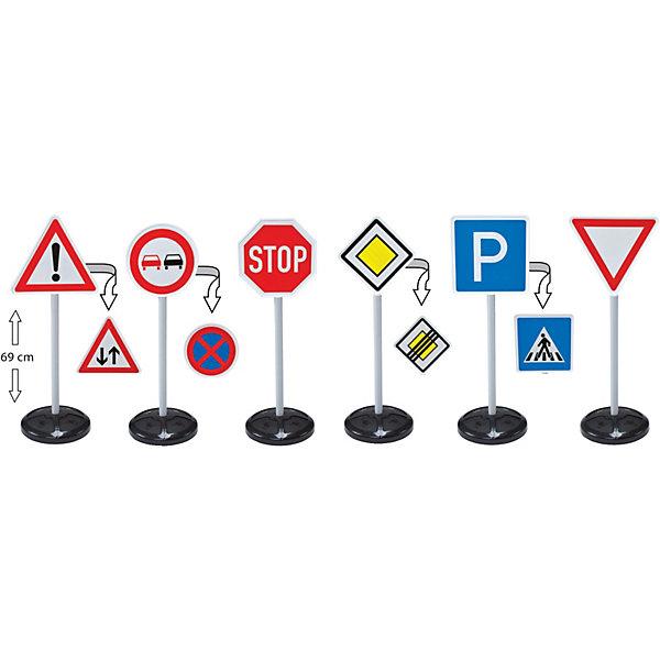 BIG Игровой набор Big Дорожные знаки 69 см, 6 шт. siku игровой набор светофоры и дорожные знаки