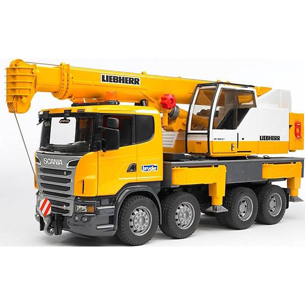 Bruder Машинка Bruder Автокран Scania bruder автокран mack с модулем со световыми и звуковыми эффектами красный bruder