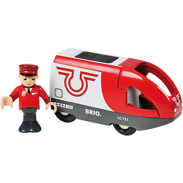 BRIO Вагон с машинистом  на батарейках, красный