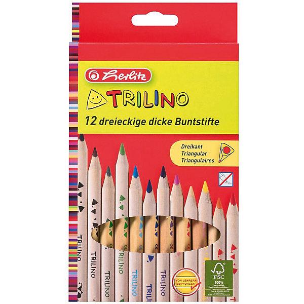 herlitz Цветные карандаши Herlitz, 12 шт. трехгранные цена