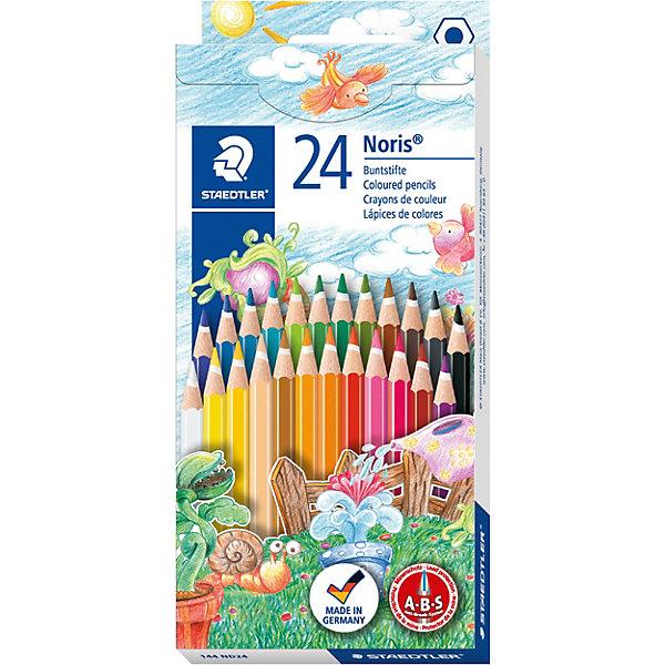 Купить Карандаш цветной Noris Club набор 24 цвета, Staedtler, Германия, Унисекс