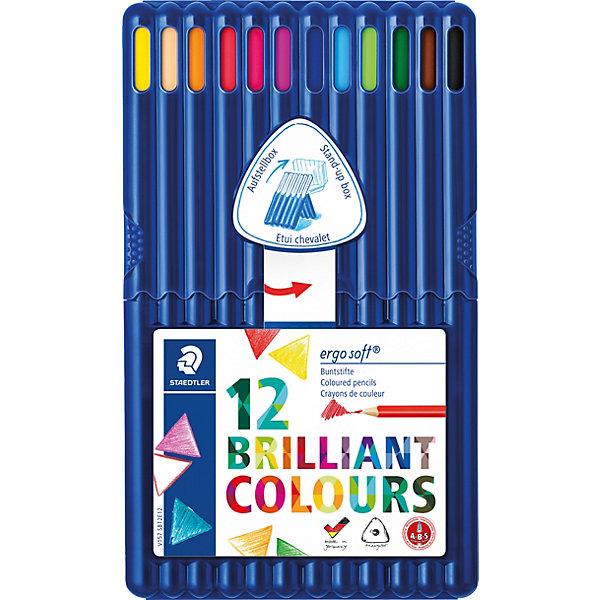 Фотография товара карандаши цветные Ergosoft трехгранные, 12 цветов (2031243)