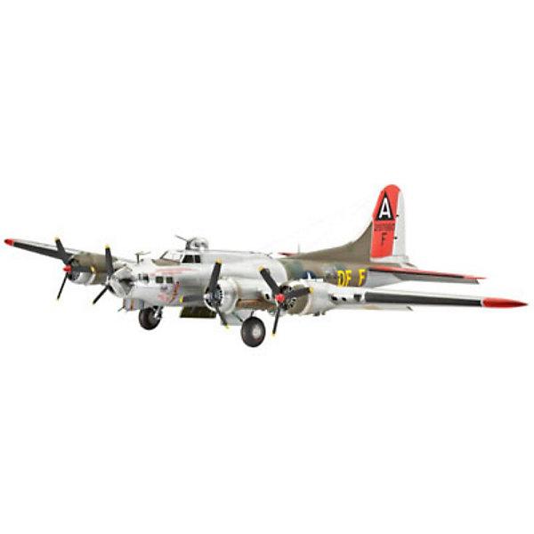 """Самолет бомбардировщик Боинг B-17G «Летающая крепость», американскийСамолеты и вертолеты<br>Характеристики товара:<br><br>• возраст: от 10 лет;<br>• масштаб: 1:72;<br>• количество деталей: 237 шт;<br>• материал: пластик; <br>• клей и краски в комплект не входят;<br>• длина модели: 32 см;<br>• размах крыльев: 44 см;<br>• бренд, страна бренда: Revell (Ревел), Германия;<br>• страна-изготовитель: Польша.<br><br>Модель для сборки «Самолет бомбардировщик Боинг B-17G «Летающая крепость» поможет вам и вашему ребенку придумать увлекательное занятие на долгое время и весело провести свой досуг. <br><br>В набор входят 237 пластиковых деталей, которые помогут воссоздать точную копию одноименного самолета. Детали можно собрать при помощи клея, согласно инструкции. Американский тяжелый бомбардировщик. Этот самолет, прозванный """"Летающей крепостью"""", стал первым серийным цельнометаллическим бомбардировщиком ВВС США.<br><br>Процесс сборки развивает интеллектуальные и инструментальные способности, воображение и конструктивное мышление, а также прививает практические навыки работы со схемами и чертежами.<br> <br>Модель для сборки «Самолет бомбардировщик Боинг B-17G «Летающая крепость», 237 дет., Revell (Ревел) можно купить в нашем интернет-магазине.<br>Ширина мм: 443; Глубина мм: 253; Высота мм: 116; Вес г: 661; Возраст от месяцев: 168; Возраст до месяцев: 1188; Пол: Мужской; Возраст: Детский; SKU: 2071091;"""
