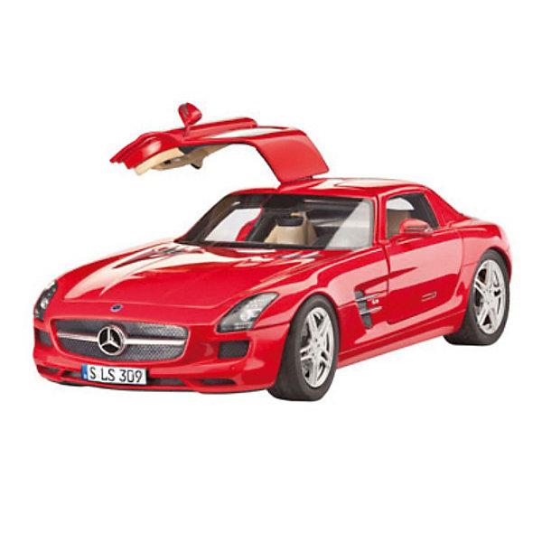 Автомобиль Mercedes SLS AMGАвтомобили<br>Характеристики товара:<br><br>• возраст: от 10 лет;<br>• масштаб: 1:24;<br>• количество деталей: 141 шт;<br>• материал: пластик; <br>• клей и краски в комплект не входят;<br>• длина модели: 19,3 см;<br>• бренд, страна бренда: Revell (Ревел),Германия;<br>• страна-изготовитель: Германия.<br><br>Сборная модель для склеивания «Автомобиль Mercedes SLS AMG» поможет вам и вашему ребенку придумать увлекательное занятие на долгое время и получить хорошую игрушку.<br><br>Набор включает в себя 141 пластиковый элемент из которых можно собрать невероятно реалистичную машинку. В комплект также входит схематичная инструкция. Собранный автомобиль имеет прекрасно проработанный салон и реалистичную детализацию.<br><br>Процесс сборки развивает интеллектуальные и инструментальные способности, воображение и конструктивное мышление, а также прививает практические навыки работы со схемами и чертежами.<br><br>Обращаем ваше внимание на тот факт, что для сборки этой модели клей, кисточки и краски в комплект не входят. <br><br>Сборную модель для склеивания «Автомобиль Mercedes SLS AMG», 141 дет., Revell (Ревел) можно купить в нашем интернет-магазине.<br>Ширина мм: 360; Глубина мм: 215; Высота мм: 71; Вес г: 411; Возраст от месяцев: 168; Возраст до месяцев: 228; Пол: Мужской; Возраст: Детский; SKU: 2071133;