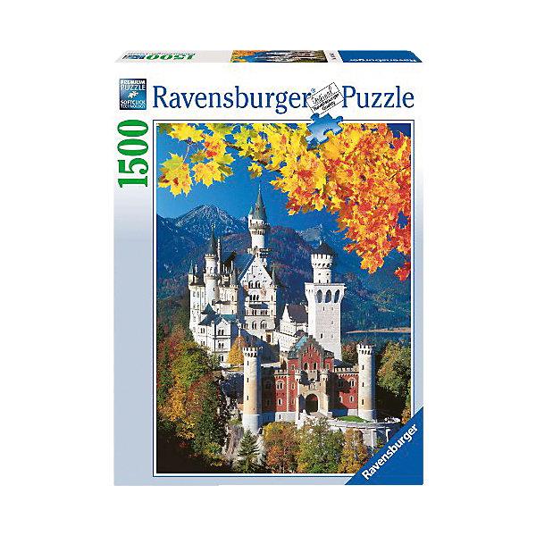 Пазл «Осенний Нойшвандеталейайн» 1500 деталей, RavensburgerПазлы до 2000 деталей<br>Соединив все элементы Пазла «Осенний Нойшвандеталейайн» 1500 деталей, Ravensburger (Равенсбургер), Вы увидите красивую картину с видом всемирно известного дворца Нойшванштайн в Германии. На картинке этот один из самых красивых замков изображен на фоне осенней природы Альпийских гор. Готовое изображение станет оригинальным украшением комнаты!<br><br>Характеристики:<br>-Элементы идеально соединяются друг с другом, не отслаиваются с течением времени<br>-Высочайшее качество картона и полиграфии <br>-Матовая поверхность исключает отблески<br>-Развивает: память, мышление, внимательность, усидчивость, мелкая моторика, восприятие форм и цветов<br>-Занимательное времяпрепровождение для всей семьи<br>-Для сохранения в собранном виде можно использовать скотч или специальный клей для пазлов (в комплект не входит)<br><br>Дополнительная информация:<br>-Материал: плотный картон, бумага<br>-Размер собранного пазла: 60х80 см<br>-Размер упаковки: 37x5,5x27 см<br>-Вес упаковки: 1 кг<br><br>Чтобы собрать Пазл «Осенний Нойшвандеталейайн» понадобится несколько вечеров, но увлекательное занятие без сомнений понравится как детям, так и взрослым ценителям этого хобби! <br><br>Пазл «Осенний Нойшвандеталейайн» 1500 деталей, Ravensburger (Равенсбургер) можно купить в нашем магазине.<br>Ширина мм: 64; Глубина мм: 378; Высота мм: 274; Вес г: 1040; Возраст от месяцев: 144; Возраст до месяцев: 228; Пол: Унисекс; Возраст: Детский; Количество деталей: 1500; SKU: 2102643;