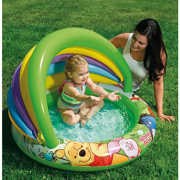 Купить Детский бассейн с навесом Винни Пух, Winnie Pooh , 102 x 69 см, Intex, Унисекс
