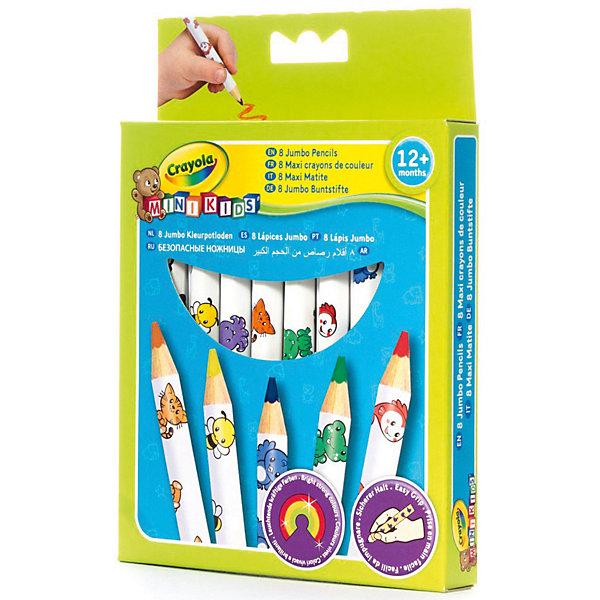 Набор толстых карандашей для малышей, 8 шт., CrayolaЦветные<br>Малышам сложно и не всегда интересно рисовать тонкими карандашами – это долго и неудобно, к тому же карандаш так и норовит выпасть из маленькой ручки. Этот набор разработан специально для самых юных художников – карандаши рисуют мягко, легко, и созданные ребенком шедевры долго не теряют цвет и яркость. Кроме того, этот набор безопасен для ребенка – за счет толщины малыш наверняка не проглотит карандаш и не засунет его себе случайно в нос или в ухо; к тому же все использованные в производстве красители не вызывают раздражений на коже.<br><br>Набор толстых карандашей для малышей, 8 шт., Crayola (Крайола) можно купить в нашем магазине.<br>Ширина мм: 177; Глубина мм: 126; Высота мм: 22; Вес г: 64; Возраст от месяцев: 12; Возраст до месяцев: 36; Пол: Унисекс; Возраст: Детский; SKU: 2127053;