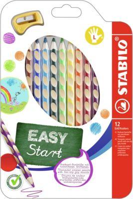 Набор цветных карандашей для левшей, 12 цв., EASYCOLORS, артикул:2128525 - Рисование и раскрашивание