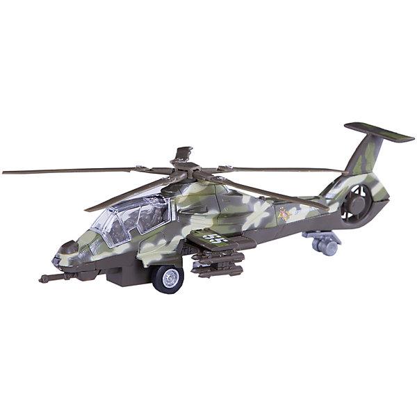 ТЕХНОПАРК Военный вертолётСамолёты и вертолёты<br>Характеристики товара:<br><br>• цвет: хаки<br>• материал: пластик, металл <br>• размер упаковки: 23х13х9 см<br>• упаковка: коробка<br>• звуковые эффекты<br>• световые эффекты<br>• хорошая детализация<br>• инерционный<br>• страна бренда: Российская Федерация<br>• страна производства: Китай<br><br>Такая хорошо детализированная игрушка от российского бренда Технопарк станет отличным подарком мальчику Вертолет выглядит практически как настоящий, только уменьшенный. Игрушка дополнена звуковыми и световыми эффектами. Она инерционная: если провезти вертолет задним ходом и отпустить - он сам поедет вперед.<br>Игры с такими предметами позволяют ребенку не только весело проводить время, но и развивать важные навыки: мелкую моторику, воображение, логику, мышление. Изделие произведено из сертифицированных материалов, безопасных для детей.<br><br>Военный вертолёт от бренда ТЕХНОПАРК можно купить в нашем интернет-магазине.<br>Ширина мм: 100; Глубина мм: 290; Высота мм: 140; Вес г: 280; Возраст от месяцев: 36; Возраст до месяцев: 120; Пол: Мужской; Возраст: Детский; SKU: 2149064;