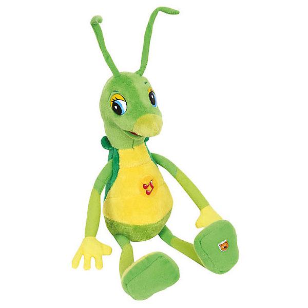 Мягкая игрушка Кузнечик Кузя (Лунтик и его друзья).Мягкие игрушки из мультфильмов<br>Мягкая игрушка Кузнечик Кузя со звуком от марки МУЛЬТИ-ПУЛЬТИ<br><br>Мягкая озвученная игрушка от отечественного производителя сделана в виде известного персонажа из мультфильма «Лунтик и его друзья». Она поможет ребенку проводить время весело и с пользой. В игрушке есть встроенный звуковой модуль, который  позволяет Кузе говорить 9 фраз из мультика.<br>Размер игрушки универсален - 28 сантиметров, её удобно брать с собой в поездки и на прогулку. Сделан Кузнечик Кузя из качественных и безопасных для ребенка материалов, которые еще и приятны на ощупь. <br><br>Отличительные особенности  игрушки:<br><br>- материал: текстиль, пластик;<br>- звуковой модуль;<br>- язык: русский;<br>- произносит 9 фраз;<br>- работает на батарейках;<br>- высота: 28 см.<br><br>Мягкую игрушку Кузнечик Кузя от марки МУЛЬТИ-ПУЛЬТИ можно купить в нашем магазине.<br>Ширина мм: 170; Глубина мм: 80; Высота мм: 250; Вес г: 140; Возраст от месяцев: 36; Возраст до месяцев: 84; Пол: Унисекс; Возраст: Детский; SKU: 2149222;