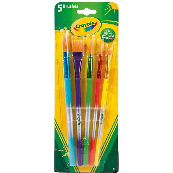 Crayola Набор кисточек для красок, 5шт., Crayola набор красок crayola poster paints