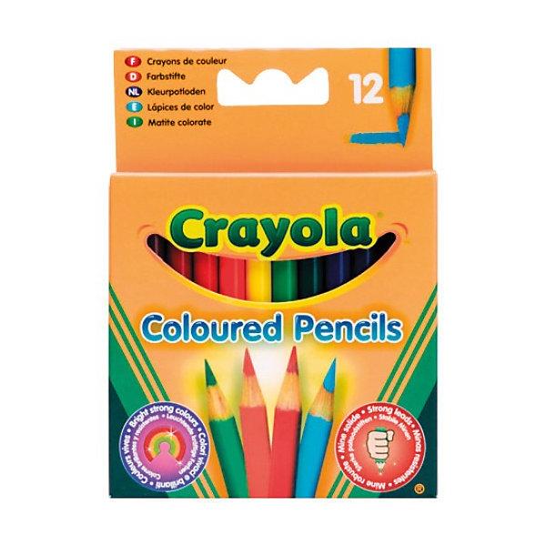 Crayola Набор из 12 коротких цветных карандашей,
