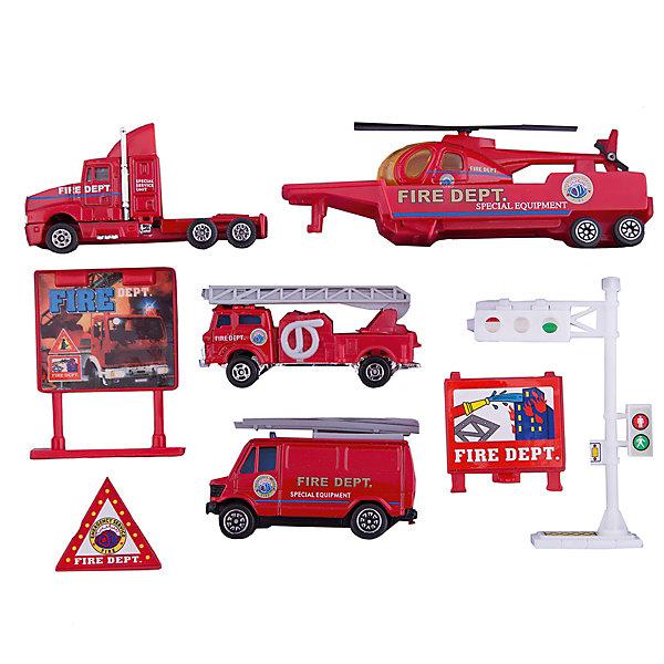 Welly Набор Служба спасения - пожарная команда  9 штукПожарные машинки<br>Характеристики товара:<br><br>• материал: пластик, металл <br>• размер набора: 21х15х4 см<br>• комплектация: 9 предметов<br>• хорошая детализация<br>• вес: 200 г<br>• страна бренда: Китай<br>• страна производства: Китай<br><br>В этот игровой набор входит 9 предметов в тематике Служба спасения. Такая хорошо детализированная игрушка от бренда Welly станет отличным подарком мальчику. Изделия прочные, сделаны из металла с добавлением пластика. С ними можно придумать множество игр!<br>Игры с машинками позволяют ребенку не только весело проводить время, но и развивать важные навыки: мелкую моторику, воображение, логику, мышление. Изделие произведено из сертифицированных материалов, безопасных для детей.<br><br>Набор Служба спасения - пожарная помощь 9 штук от бренда Welly (Велли) можно купить в нашем интернет-магазине.