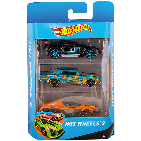 Hot Wheels Подарочный набор из 3 машинокИгрушки<br>Высококачественные масштабные модели машин, имеющие неординарный, радикальный дизайн. В упаковке 3 штуки, тематически обусловлены от фантазийных, спасательных до экстремальных и просто скоростных машин. От 3 лет.<br><br>Уважаемый покупатель, предварительный выбор цвета, к сожалению, невозможен! Выбранный Вами товар будет в одном из предлагаемых цветовых вариантов.<br>Ширина мм: 169; Глубина мм: 109; Высота мм: 40; Вес г: 133; Возраст от месяцев: 36; Возраст до месяцев: 84; Пол: Мужской; Возраст: Детский; SKU: 2154021;