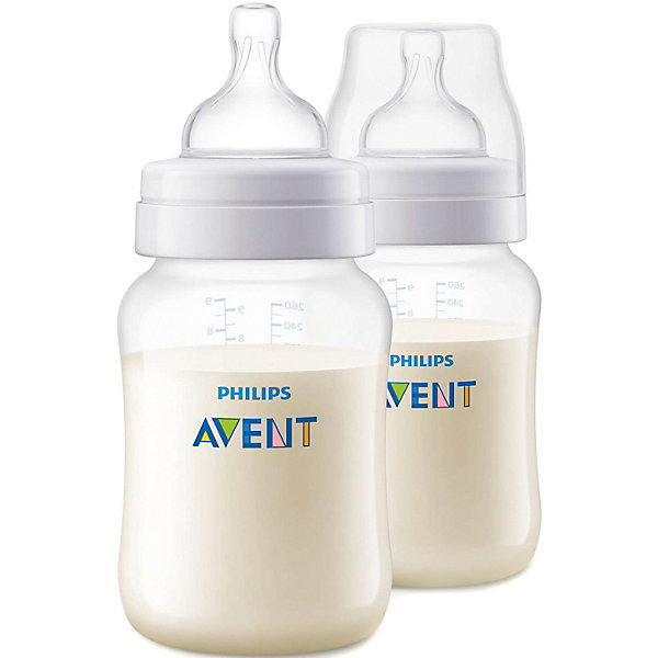 PHILIPS AVENT Бутылочка Philips Avent Anti-colic с 1 мес, 260 мл, 2 штуки