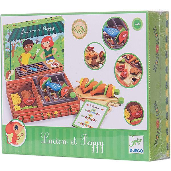DJECO Набор БарбекюИгрушечные продукты питания<br>Необычный игровой набор Барбекю от DJECO (Джеко) не оставит равнодушным ни одного ребенка. Теперь, не выходя из дома, можно устроить настоящий пикник. В наборе есть все необходимое чтобы приготовить курочку или сосиски-гриль, или пожарить шашлыки на любой вкус и угостить ими любимые игрушки. Можно фантазировать и придумывать блюда самому, а можно заглянуть в меню, которое входит в набор. Все детали упакованы в деревянную коробку, имитирующую мангал.<br><br>Дополнительная информация:<br><br>- В комплекте: решетка-гриль, шампуры, игрушечные продукты (куриные ножки, помидоры, сыр, грибы, рыба, сосиски).<br>- Материал: дерево.<br>- Размер: 20 х 5 х 26 см.<br>- Вес: 1 кг.<br><br>Игрушка развивает навыки ведения хозяйства и приготовления пищи.<br><br>Набор Барбекю DJECO (Джеко) можно купить в нашем магазине.<br>Ширина мм: 200; Глубина мм: 52; Высота мм: 260; Вес г: 950; Возраст от месяцев: 36; Возраст до месяцев: 72; Пол: Унисекс; Возраст: Детский; SKU: 2175117;