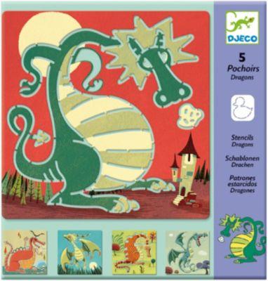 DJECO Трафареты  Драконы, артикул:2175171 - Рисование и раскрашивание