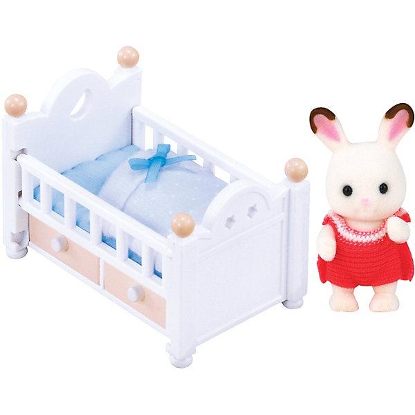 Купить Набор Малыш шоколадный заяц с кроваткой Sylvanian Families, Эпоха Чудес, Китай, Женский