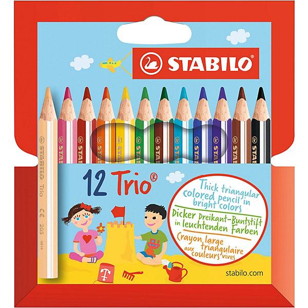 STABILO Цветные карандаши Stabilo Trio 12 цветов stabilo stabilo цветные карандаши woody супертолстые 6 цветов с точилкой