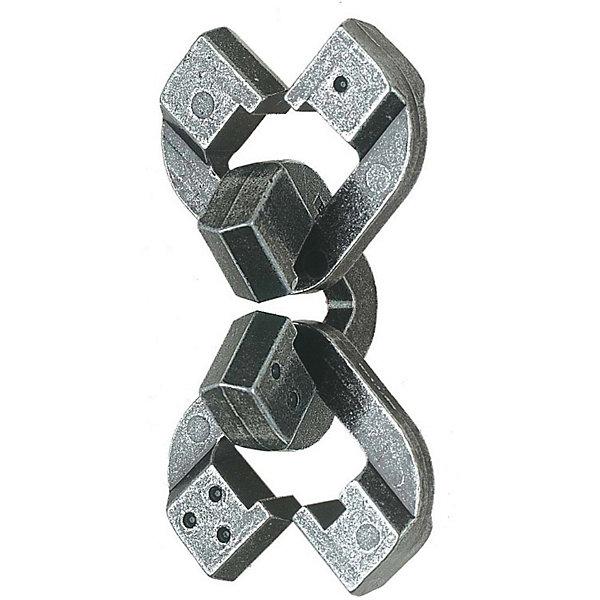 Головоломка Chain, Уровень сложности 6, HanayamaКлассические головоломки<br>Уровень сложности 6. Целый мир мудрости заключен в этом шедевре от Оскара.<br><br>Все три части могут быть разъединены и затем снова соединены в первоначальный вид.<br><br>Особенность этой загадки в том, что это может быть сделано тремя различными путями, в зависимости от того, какая часть выбрана средней.<br><br>Решение этой головоломки требует особенно тонкой работы, которая часто оставляет жертву в расстройстве.<br><br>Учитывайте поведение цепи и используйте Ваши чувства в Ваших же интересах- это лучший способ решить головоломку.<br><br>Ключевое слово- цепь.<br>Ширина мм: 75; Глубина мм: 40; Высота мм: 120; Вес г: 131; Возраст от месяцев: 120; Возраст до месяцев: 1188; Пол: Унисекс; Возраст: Детский; SKU: 2207387;