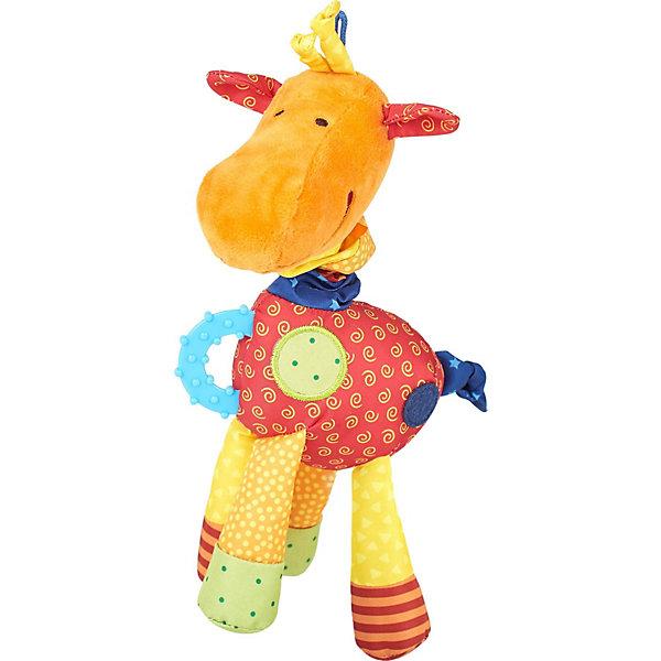 цена на Sigikid Развивающая мягкая игрушка Sigikid PlayQ Жираф, 24 см