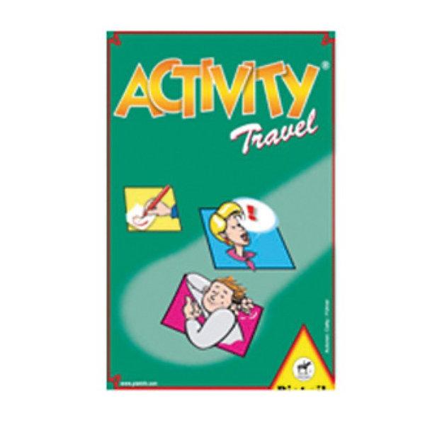 Игра Activity компактная версия, PiatnikИгры в дорогу<br>Компактная версия игры Активити идеально подходит для путешествий. <br><br>С ней вам не придется задумываться над тем, как скрасить долгую дорогу. «Активити» не даст вам заскучать в поезде, самолете или  автомобиле. Эта игра, популярная во всем мире, учит детей общаться. <br><br>Суть игры заключается в том, что игроки стремятся угадать как можно больше слов, объясняемых одним из участников игры. Игра командная, минимальное количество команд – 2 команды по 2 человека. Выигрывает та команда, которая соберет больше карточек с отгаданными словами. Количество слов в компактной версии хоть и меньше, чем в других версиях игры, но достаточно большое – всего 330 слов на разные темы, по несколько тем в одной карточке с заданием. Игра начинается с выбора карточки с заданием и бросания кубика, который покажет способ объяснения слова. В игре задействовано 3 способа – рисование, объяснение и пантомима. При объяснении нельзя пользоваться словами, однокоренными с отгадываемым словом. Например, объясняя существительное «печка», нельзя произносить глагол «печет», но можно сказать «устройство для приготовления обеда» и т.п. Если игрок использует пантомиму, то он не должен произносить не звука. А при использовании рисования можно не только изобразить угадываемое слово, но и блеснуть своими художественными навыками. Время для объяснения и угадывания задания оговаривается игроками перед игрой.<br><br>Подобные игры способствуют развитию творческого мышления ребенка, освоению им необходимых коммуникативных навыков и расширению активного словарного запаса.<br><br>Дополнительная информация:<br><br>В комплекте: <br>- карточки с заданиями (55 штук) <br>- игральный кубик <br>- песочные часы <br>- правила игры <br>Размер упаковки (д/ш/в): 12 х 17 х 3 см.<br>Ширина мм: 120; Глубина мм: 170; Высота мм: 30; Вес г: 160; Возраст от месяцев: 72; Возраст до месяцев: 1188; Пол: Унисекс; Возраст: Детский; SKU: 2237189;