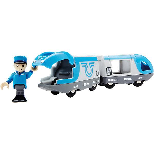 цены BRIO Поезд-экспресс BRIO с машинистом на батарейках, голубой