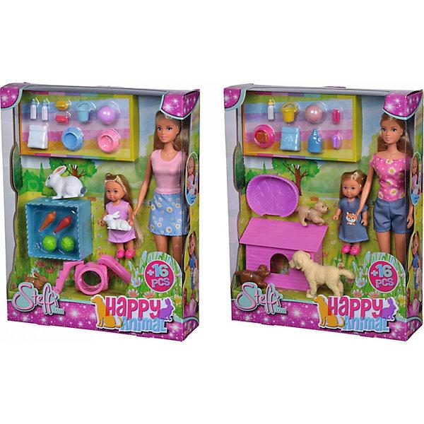 """Simba Игровой набор с куклами Simba """"Steffi Love"""" Штеффи и Еви и зверюшки, в ассортименте"""