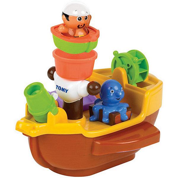 TOMY Игрушка для ванной Пиратский корабль, TOMY игрушка для купания для ванны tomy крокодил на водных лыжах