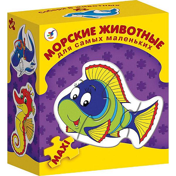 Дрофа-Медиа Дрофа-Медиа Морские животные. Серия Для самых маленьких пазлы дрофа медиа бархатные пазлы тигр новинка черный бархат