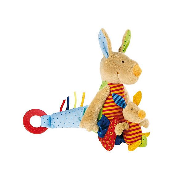 цена на Sigikid Развивающая Мягкая игрушка Sigikid Кенгуру, 27 см