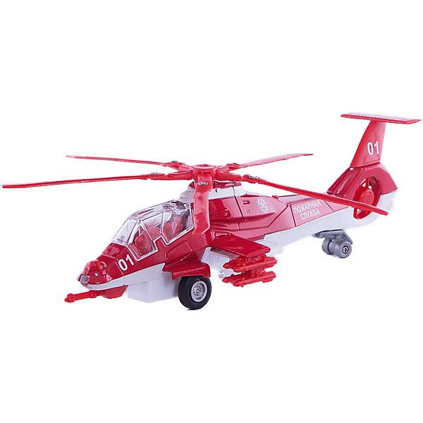 ТЕХНОПАРК Вертолёт пожарной службыСамолёты и вертолёты<br>Характеристики:<br><br>• тип игрушки: вертолет;<br>• возраст: от 3 лет;<br>• размер: 29х15х10 см;<br>• масштаб: 1:43;<br> • цвет: красный;<br>• материал: металл, пластик;<br>• бренд: Технопарк;<br>• страна производителя: Китай.<br><br>Вертолет Технопарк «Пожарная служба» - выполнена в масштабе 1:43 с высокой детализацией элементов. Великолепный стилизованный дизайн игрушки, высокая детализация всех элементов, а также световые и звуковые эффекты встроенные в игрушку, придают дополнительную реалистичность игре. В игрушку встроен инерционный механизм, просто оттяните вертолёт назад и отпустите его, вертолёт поедет в перёд самостоятельно.<br>Тематические игры с интересными сюжетами разбудят воображение ребёнка, а манипуляции с игрушкой потренируют мелкую моторику пальцев рук. Масштабные модели от компании «Технопарк» отличаются качественными ударопрочными материалами, продлевающими долговечность изделия тщательным исполнением со вниманием ко всем деталям, и имеют требуемые сертификаты соответствия для детских игрушек.<br>Вертолет Технопарк «Пожарная служба»  можно купить в нашем интернет-магазине.<br>Ширина мм: 90; Глубина мм: 280; Высота мм: 150; Вес г: 270; Возраст от месяцев: 36; Возраст до месяцев: 1188; Пол: Мужской; Возраст: Детский; SKU: 2326242;