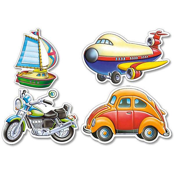 Купить Контурные пазлы Транспорт , 4*5*6*7 деталей, Castorland, Польша, Унисекс