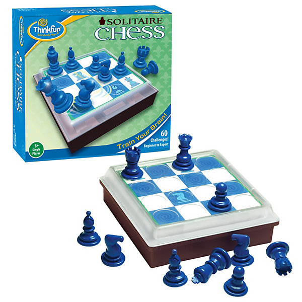 Thinkfun Шахматы для одного, Thinkfun шахматы 60 необычных игр на классической доске