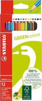 STABILO STABILO GREEN colors Набор цветных карандашей, 12 шт.