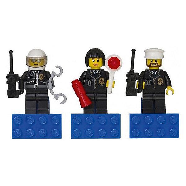 LEGO CITY набор магнитов ПолицияАксессуары для ранцев и рюкзаков<br><br>Ширина мм: 300; Глубина мм: 65; Высота мм: 65; Вес г: 57; Возраст от месяцев: 72; Возраст до месяцев: 168; Пол: Мужской; Возраст: Детский; SKU: 2393643;