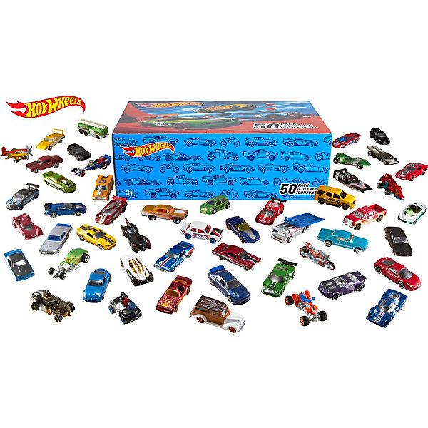 Купить Набор машинок Hot Wheels, 50 шт, Mattel, Мужской